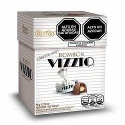 VIZZIO - MILK CHOCOLATE FLAVOR TRUFFLE WITH ALMOND PIECES - BOX OF 96 GR