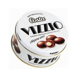 VIZZIO - ALMONDS COVERED WITH MILK CHOCOLATE,  BOWL  X 182 GR