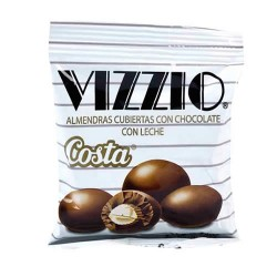 VIZZIO - ALMONDS COVERED WITH MILK CHOCOLATE-  BOX OF 20 BAGS