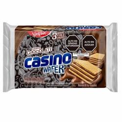 CASINO WAFER -  OBLEA FILLED CHOCOLATE CREAM, BAG X 6 UNITS