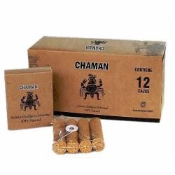 CHAMAN - PERUVIAN ECOLOGIC INCENSE HANDMADE PALO SANTO HOLY WOOD - PACK X 12 BOXES