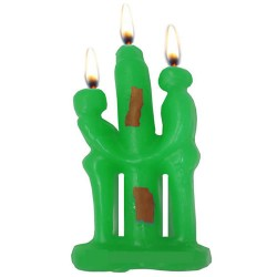 GREEN COUPLE CANDLE FOR RITUAL SPELL TO ATTRACT PROSPERITY , MONEY AND LUCK - PACK X 12 UNITS