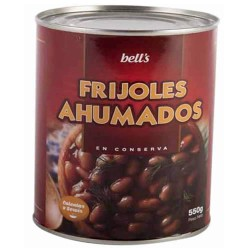 BELLS - KIDNEY BEANS WITH BACON, TIN X 600 GR