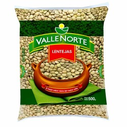 VALLE NORTE - PERUVIAN SERRANA LENTILS , BAG X 500 gr