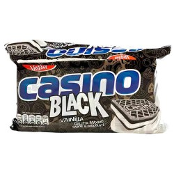 CASINO BLACK - CHOCOLATE COOKIES FILLED WITH VANILLA CREAM - BAG X 6 PACKETS