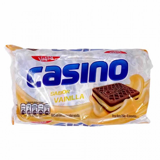CASINO - MIXED COOKIES, ASSORTED FLAVORS  - BAG X 6 PACKETS