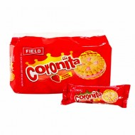 CORONITA - COOKIES FILLED STRAWBERRY CREAM, BAG X 6 PACKETS