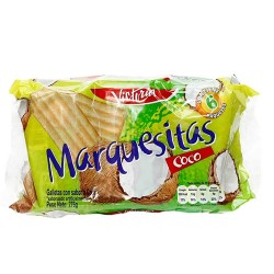 MARQUESITAS - COOKIES COCONUT FLAVOR, BAG X  6 PACKETS