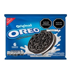 OREO - CHOCOLATE COOKIES FILLED WITH VANILLA CREAM, BAG X 6 UNITS