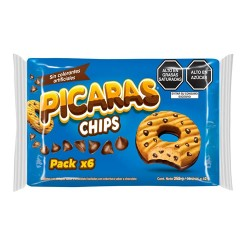 PICARAS CHIPS -  CHOCOLATE CHIP COOKIES,BAG X 6 PACKETS