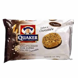QUAKER - SWEET COOKIES WITH OATMEAL AND CHOCOLATE  FLAVOR , BAG X 6 PACKETS