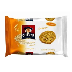 QUAKER - SWEET COOKIES WITH OATMEAL AND GRANOLA , BAG X 6 PACKETS