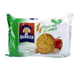 QUAKER - SWEET COOKIES WITH OATMEAL,APPLE AND CINNAMON , BAG X 6 PACKETS
