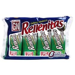 RELLENITAS - PERUVIAN COOKIES FILLED MINT CREAM PERU, BAGX  8 PACKETS