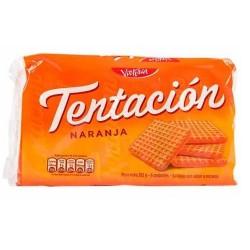 TENTACION -  ORANGE FLAVOR COOKIES, BAG X 6 PACKETS