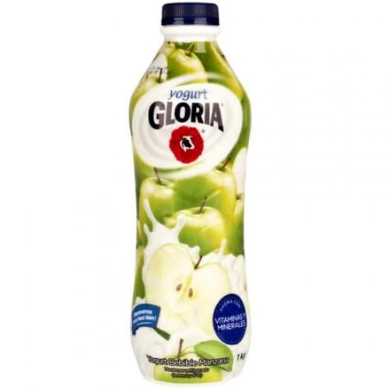 GLORIA - APPLE YOGURT , BOTTLE X 1 LITER