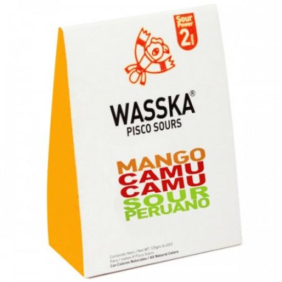 WASSKA - PERUVIAN PISCO SOUR MANGO AND CAMU CAMU, BOX OF 125 GR