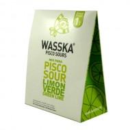 WASSKA - PERUVIAN PISCO SOUR GREEN LEMON FLAVOR, BOX OF 125 GR