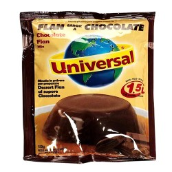 UNIVERSAL - CHOCOLATE FLAN CUSTARD , SACHET X 150 GR