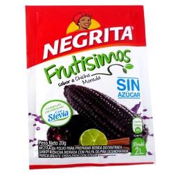 NEGRITA FRUTISIMOS - CHICHA MORADA INSTANT DRINK SWEETENED WITH STEVIA - BAG X 10 SACHETS