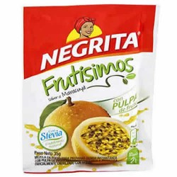 NEGRITA FRUTISIMOS - PASSION FRUIT  INSTANT DRINK SWEETENED WITH STEVIA - BAG X 10 SACHETS