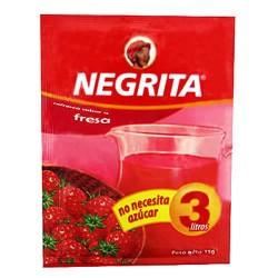 NEGRITA - INSTANT DRINK STRAWBERRY FLAVOR , BAG X 10 SACHETS  13 GR