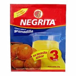 NEGRITA - INSTANT DRINK  PASSION FRUIT  FLAVOR , BAG X 10 SACHETS 13 GR
