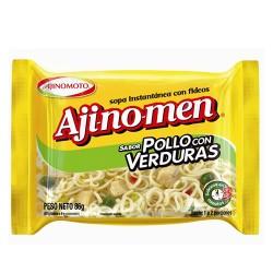 AJINOMEN - INSTANT CHIKEN NOODLE SOUP WITH VEGETABLES X 80 GR