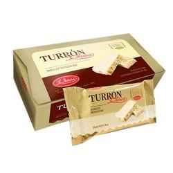 LA IBERICA - SEMI-HARD NOUGAT ( TURRON ) WITH HONEY BEE & CHESTNUTS - BOX OF 360 GR